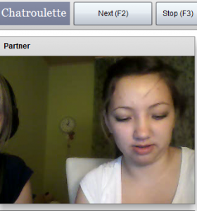 Girls having fun with Chatroulette